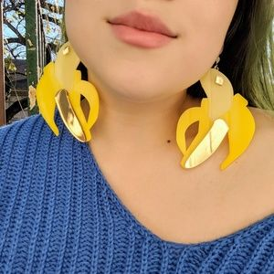 Marina Fini banana earrings